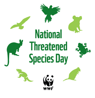 National Threatened Species Day lockup logo