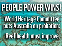 World Heritage puts Australia on probation