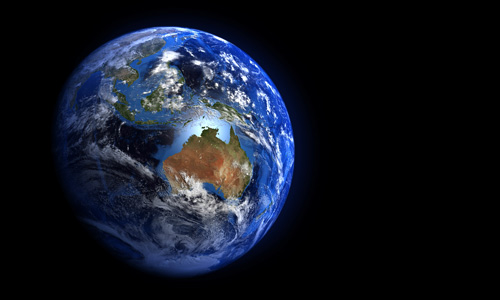 The Earth from space showing Australia and Indonesia © Shutterstock / MarcelClemens / WWF