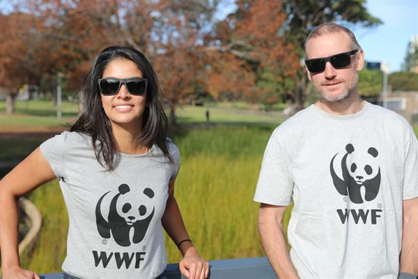 ReefCycle sunglasses worn by two models © WWF-Aus