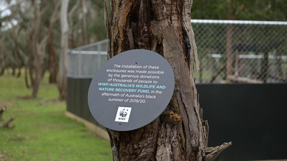 WWF-Australia plaque at Phillip Island Nature Parks © WWF-Australia