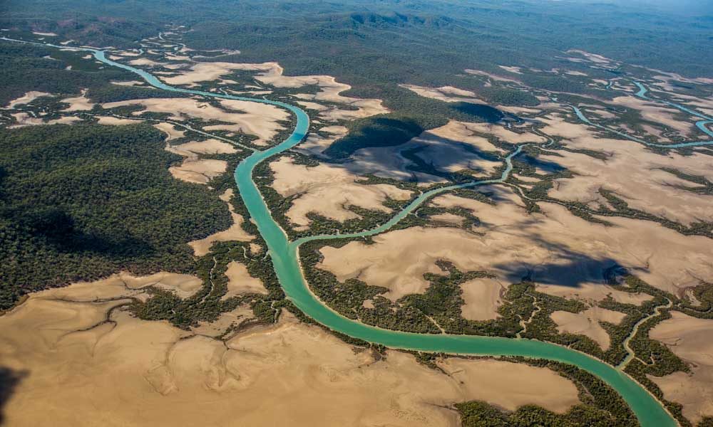 The Fitzroy Delta seen from the air © WWF / James Morgan