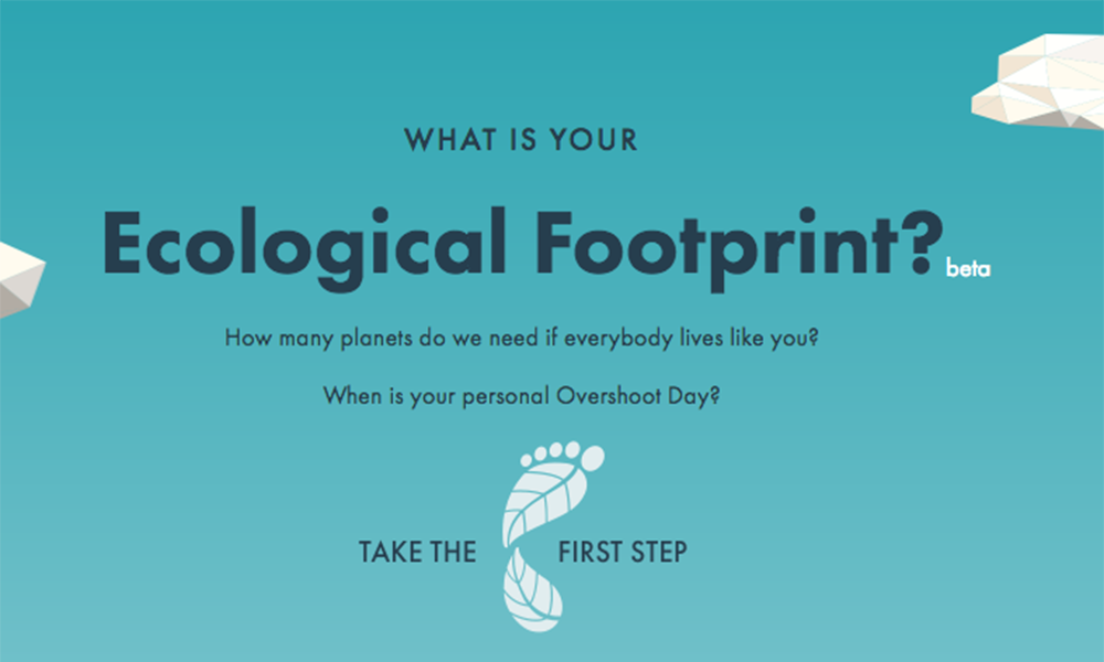 WWF's footprint calculator © Global Footprint Network