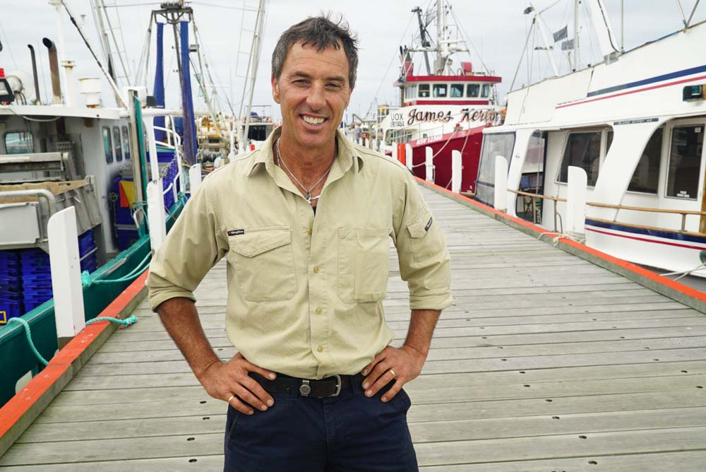 David Gulliot, representing SETFIA in WWF-Australia and Coles partnership funding the Fishery Improvement Project (FIP), Victoria, February 2015 © WWF-Aus / Stepping Stone Films