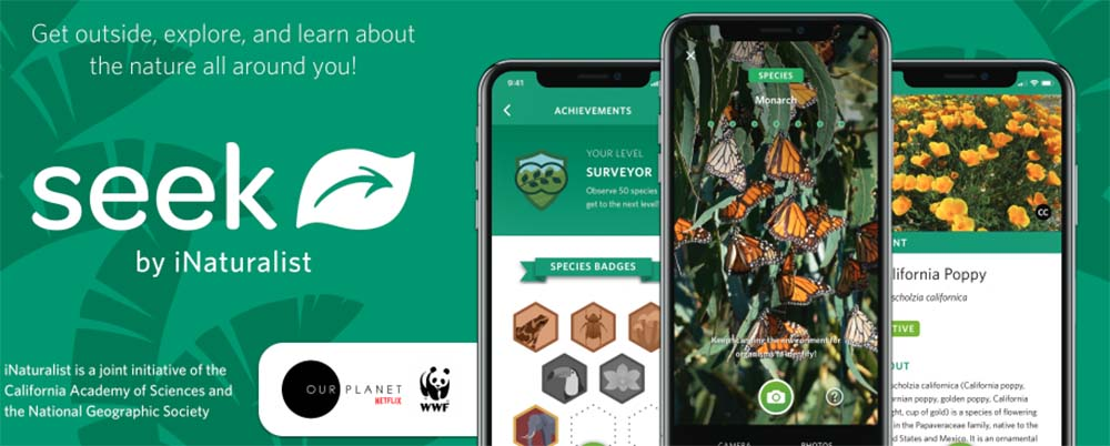 Promotion for Seek by iNaturalist app