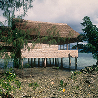 Eco-Tourism lodge near Seghe. Solomon Islands © Edward Parker / WWF